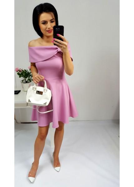 Sukienka z imitacją kokardy