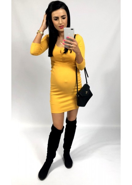 Prążkowana sukienka basic