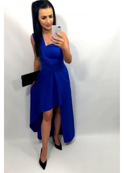 Sukienka Maxi na jedno ramię z asymetrycznym dołem