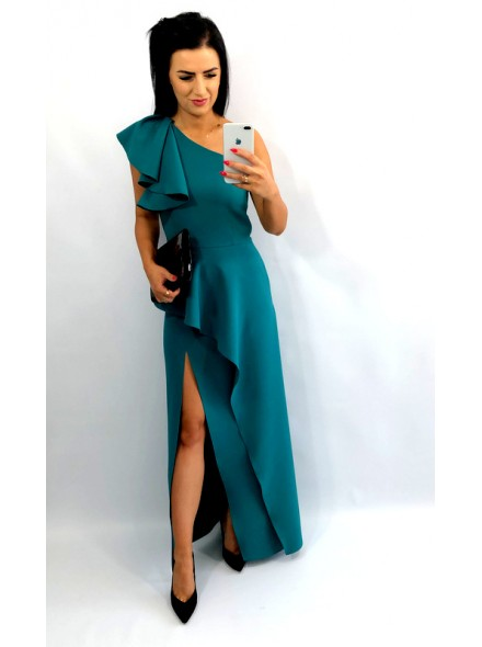 Sukienka maxi z baskinką