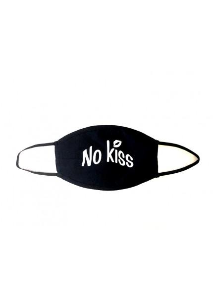 Maseczka NO KISS czarna