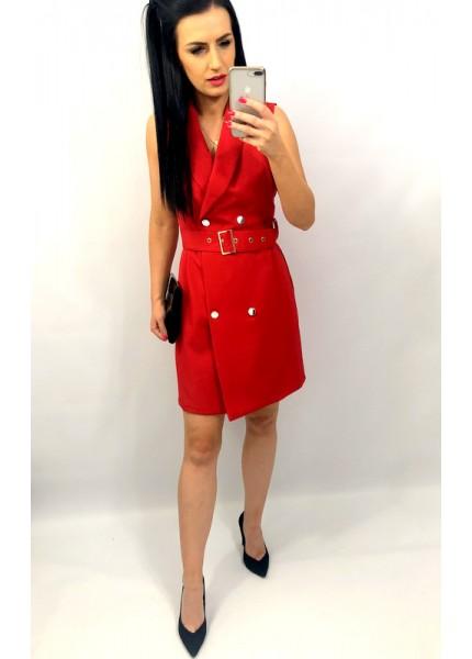 Ołówkowa sukienka z kopertowym dekoltem