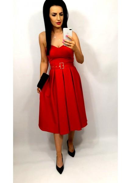 Sukienka gorsetowa w wersji midi