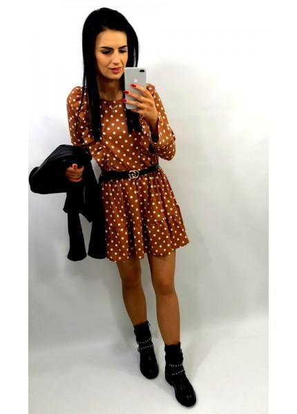 Sukienka mini w groszki