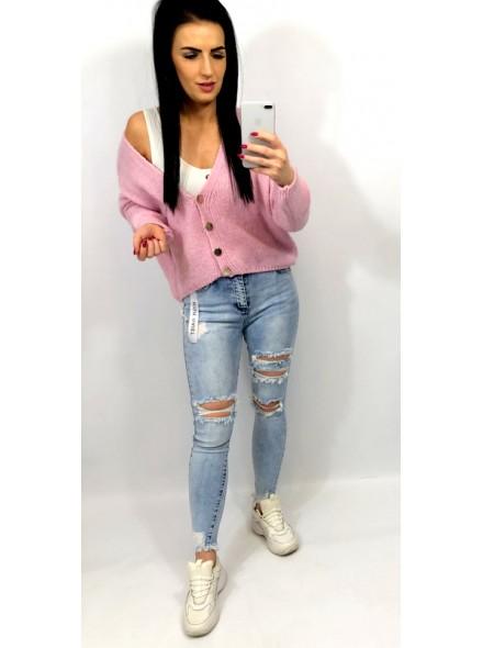 Spodnie jeans z dziurami