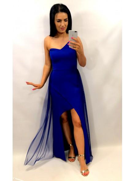 Asymetryczna sukienka maxi z tiulem
