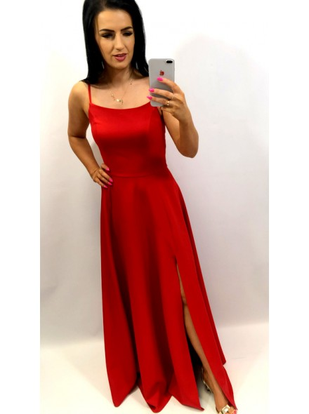 Sukienka maxi księżniczka rozkloszowana